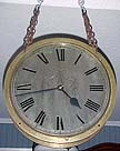 English Large Double Sided Brass Ship's Gallery Clock - circa 1920