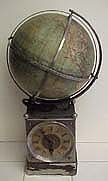 German Rotating Globe Clock - Circa 1890