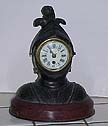French Helmet Armor Clock - Circa 1890