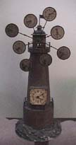German World Time Lighthouse Clock - Circa 1850